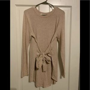 Anthropologie Pure + Good Tie Front Tunic Size L